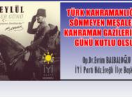 BALBALOĞLU 'GAZİLER GÜNÜ'NÜ KUTLADI