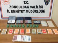 EREĞLİ'DE SOKAĞA ÇIKMA KISITLAMASINDA KUMAR BASKINI!
