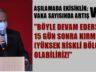 EREĞLİ KAYMAKAMI'NDAN  'KIRMIZI' UYARISI