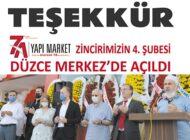"""7 A YAPI MARKET: """"TEŞEKKÜR EDERİZ"""""""